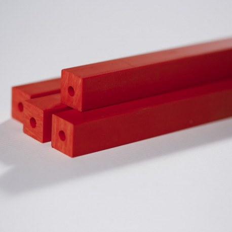 PVC Red - Square Sections